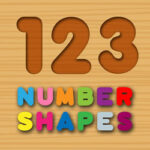 Wooden Numbers Matching Game